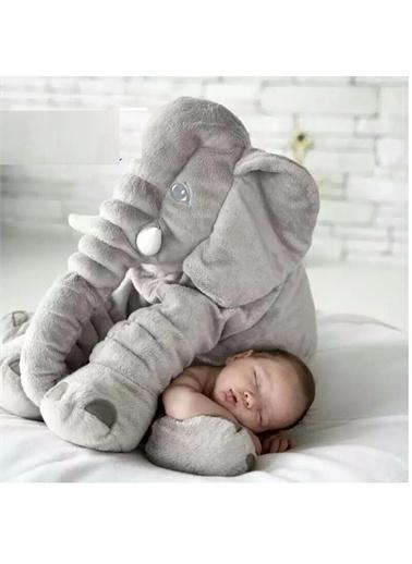 Sole Uyku Arkadaşım Fil - Büyük Yumuşacık Peluş Fil - 85 cm- Sevgiliye HEDİYE Gri